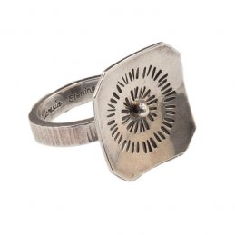Fritz Casuse Sterling Silver Ring with Decorative Stampwork