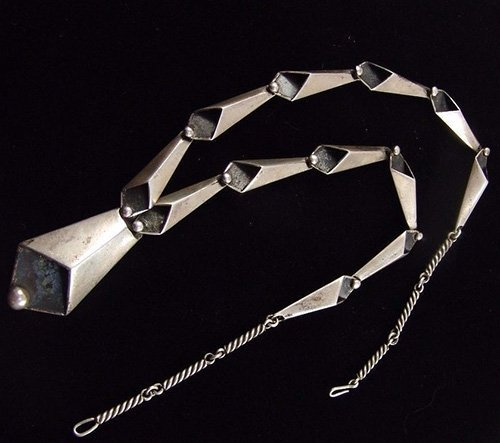 Kenneth Begay Sterling Silver Necklace