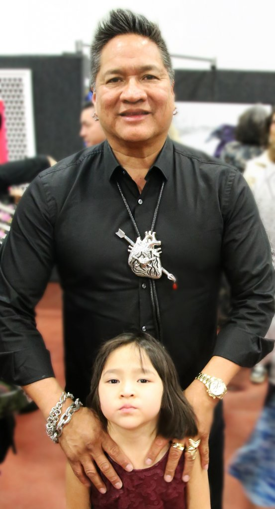 Cody Sanderson with his daughter at The Heard Museums Best of Show event