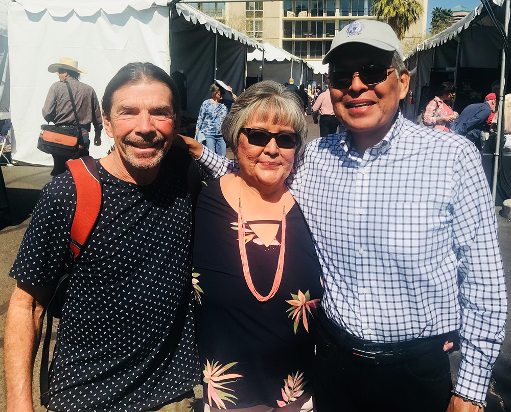 John Krena with Richard Chavez and his wife Sharon at Heard Museum Indian Art Fair