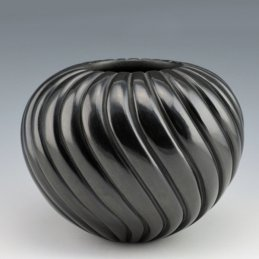 Linda Tafoya-Sanchez Swirl Blackware Melon Bowl