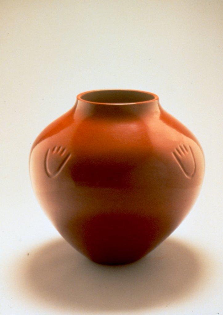Margaret Tafoya Red Polish Storage Jar, 1978
