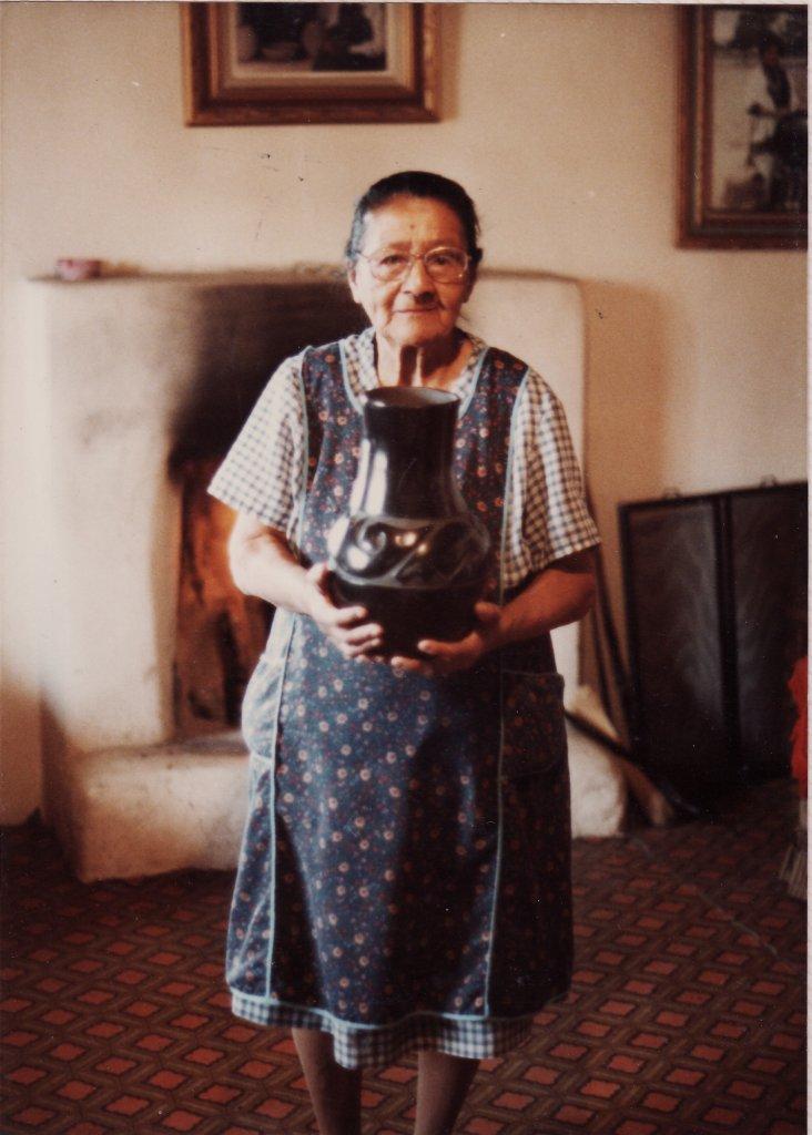 Margaret Tafoya with Jar