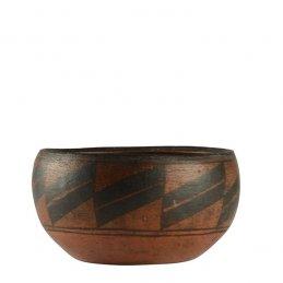 Zia Pueblo Utilitarian Food Bowl with Geometric Design, ca. 1920's