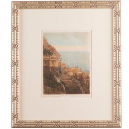"""Edward S. Curtis """"Looking To Sea-King Island"""" Original Photogravure with Frame"""