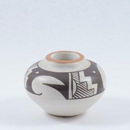 Stella Teller Isleta Pueblo Pottery, Small Polychrome Jar