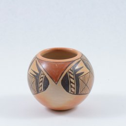 Priscilla Nampeyo Small Jar with Traditional Hand Painted Symbols
