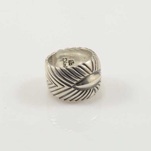 Fritz Casuse Cigar Band Style Silver Ring