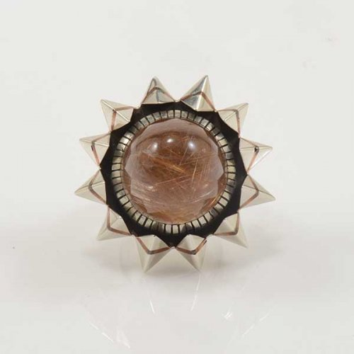 Isaiah Ortiz Rutilated Quartz Statement Ring