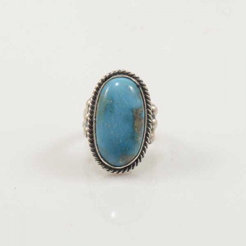 Jeannette Dale Silver Ring with Turquoise