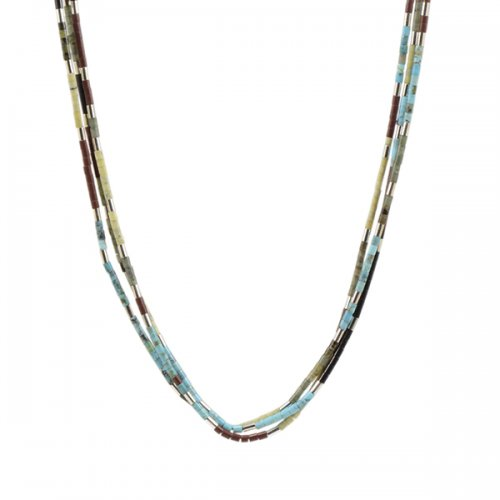 Nick & Me-Wee Rosetta Multicolored 3 Strand Heishi Necklace