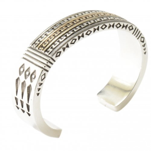 Jennifer Curtis Heavy 14kt and Sterling Cuff