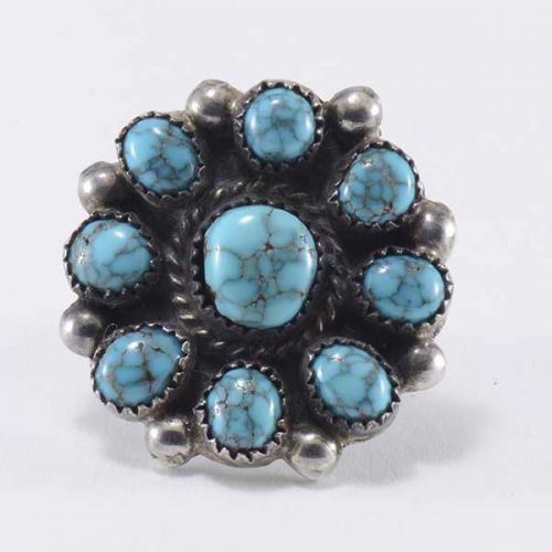 Cluster Ring with Lone Mountain Turquoise
