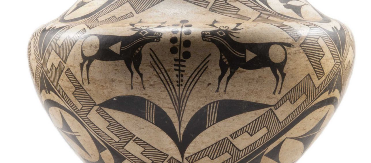 Acoma Polychrome Jar w/ Deer Motif