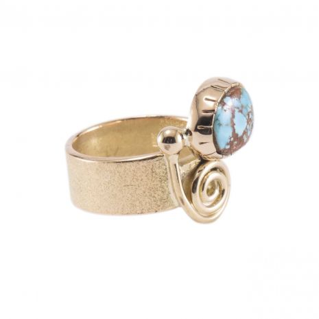 Carol Krena 18kt Yellow Gold with Persian Turquoise Ring
