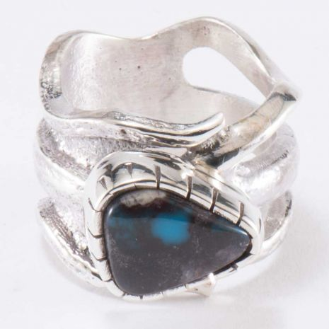 CAROL KRENA STERLING SILVER WITH BISBEE TURQUOISE RING