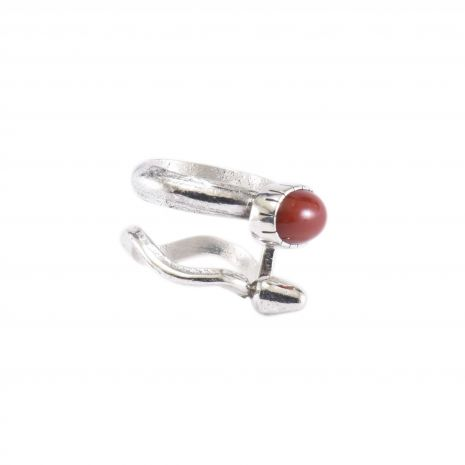 Carol Krena Sterling Silver with Red Coral Ring
