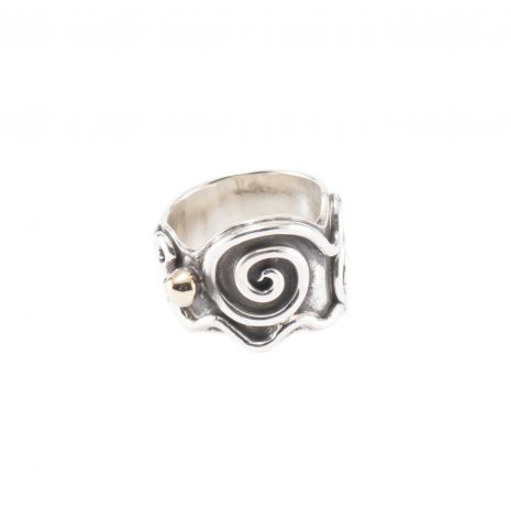 Carol Krena Sterling Silver and Gold Ring