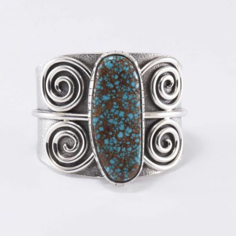 Carol Krena Cuff with Red Mountain Turquoise