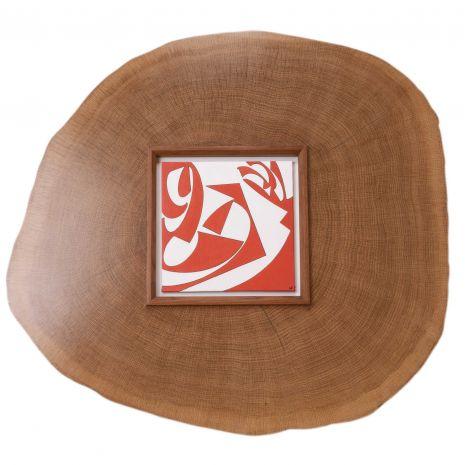 Ken Ledonne Wooden White oak Sculpture Frame and painting